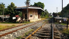 Old Train station in Sri Lanka stock photos