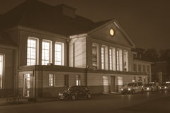 The old train station in viersen Stock Images