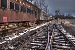 Old Train stationed at Wycombe, Pa. USA royalty free stock photos