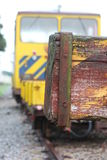 Old train stop. Closeup of a old train stop in the city of Caldas da Rainha - Portugal Stock Photos