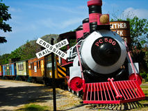 Old train symbol in countryside. Thailand Royalty Free Stock Photography