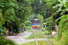 Old train in Thailand Stock Photos