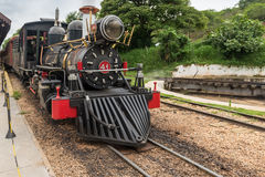 Old train in Tiradentes, a Colonial and historical city. Old train (Maria Fumaca) in Tiradentes, a Colonial and historical city (Unesco World Heritage stock image