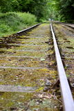 Old train track A. Photograph of an old train track in woodland Royalty Free Stock Photos