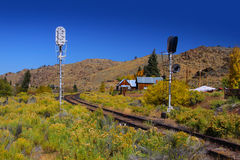 Old train track Royalty Free Stock Images