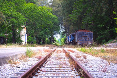 Old train tracks royalty free stock images