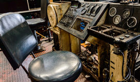 Old train Train dashboard. Royalty Free Stock Images