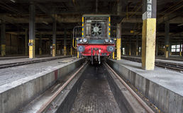 Old train in train shed Royalty Free Stock Photos