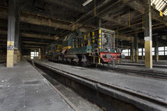 Old train in train shed Royalty Free Stock Photography