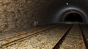 Old train tunnel. Stock Images