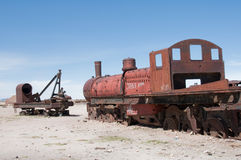 Old train in Uyuni (Bolivia) Royalty Free Stock Image