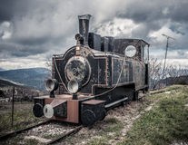 Old train. Vintage in winter Royalty Free Stock Images