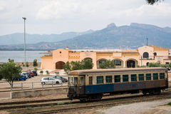 Old train wagon in Arbatax, Sardinia Stock Photos