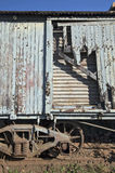 Old train wagon deteriorating at the station Royalty Free Stock Photos
