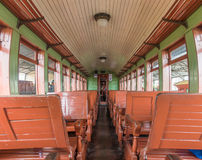 Old train wagon interior in Tiradentes, a Colonial city Royalty Free Stock Image