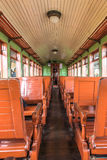Old train wagon interior in Tiradentes, a Colonial city Stock Photography