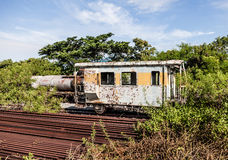 Old train wagon on a lost place. An old train wagon on a lost place stock images