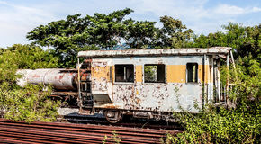 Old train wagon on a lost place. An old train wagon on a lost place stock photo