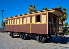 Old train wagon made of wood Stock Image