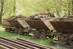 Old train wagons Royalty Free Stock Photo