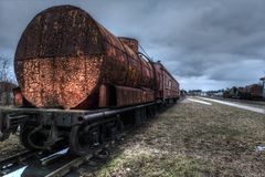 old train wagons Royalty Free Stock Image