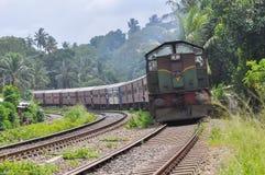 Old train in wanawasala Stock Image