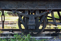 Old train wheel Stock Images