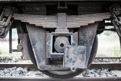 Old train wheel. On a track Stock Image