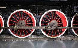 Old Train Wheel. View of old train wheel with railway Royalty Free Stock Image