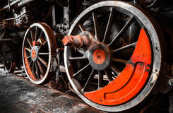 Old train wheels Stock Photos