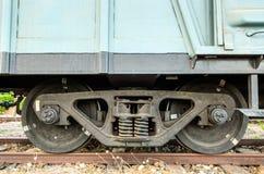 Old train wheels Royalty Free Stock Photos