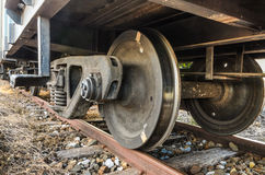 Old train wheels Royalty Free Stock Photo