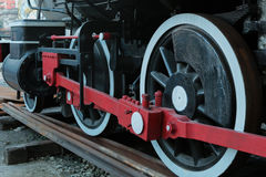 Old train wheels Stock Photos