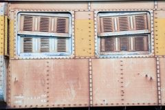 Old train window. Stock Image