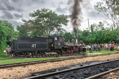 Old train (Maria Fumaca) in Tiradentes, a Colonial city Royalty Free Stock Image