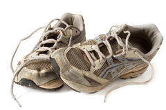 Old Trainers royalty free stock images