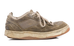 Old training shoes royalty free stock photography