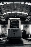 Old trains in abandoned depot Stock Image