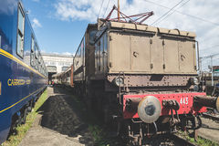 Old trains deposit in Milan on March, 23 2014 Stock Photo