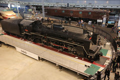 Old trains in railway museum of Omiya Royalty Free Stock Photo