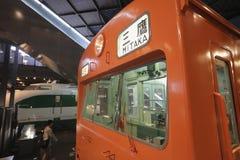 Old trains in railway museum of Omiya Stock Image