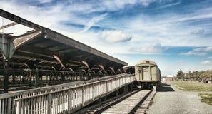 Old Trains. Unused Public transportation Royalty Free Stock Photo