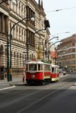 Old tram. In Prague, Czech Republic Royalty Free Stock Photography