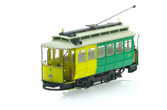 Old tram. Model on the white background stock images