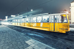 Old Tram At Central Stations in Budapest Stock Image