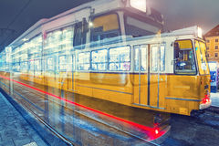 Old Tram At Central Stations in Budapest Royalty Free Stock Images