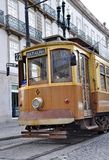 Old tram in the city of Porto Stock Photos