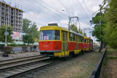 Old tram Stock Image