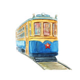 Old tram illustration Royalty Free Stock Photos