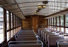 Old tram interior Stock Photo